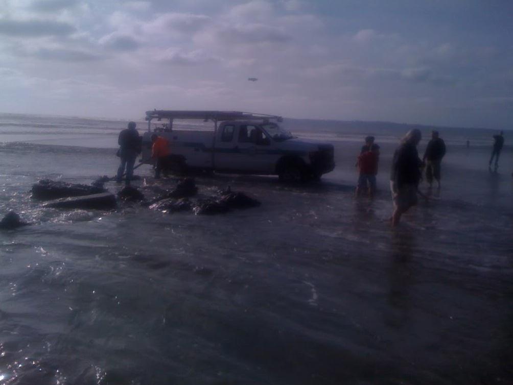 Stuck Truck Sinking