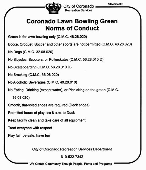 Lawn Bowling Sign