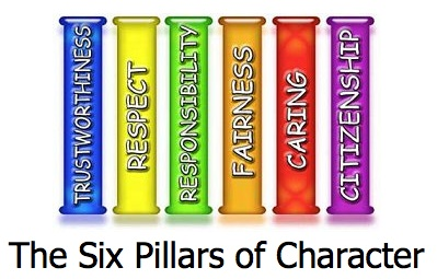 the 6 pillars of character We call these traits the six pillars of character they are trustworthiness, respect  slide 3 slide 4 slide 5 slide 6 slide 7 slide 8 slide 9.