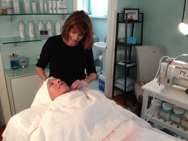 Janice with Waxpot client