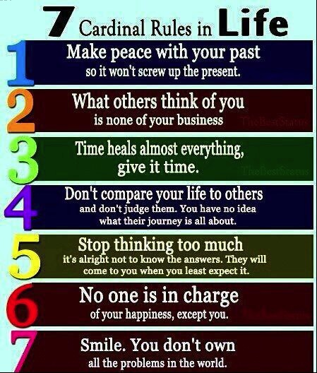 SEven Cardinal Rules